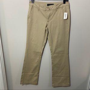 Aeropostal Low Rise Flare Khaki Flare Pants